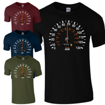 Custom Speedometer Birthday T-Shirt - Funny Feels Age Years Present Mens Gift